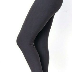 Pants - Plus size one size brushed leggings charcoal